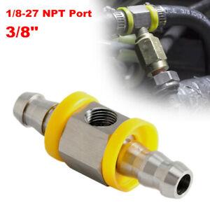 "1/8-27 NPT Port 3/8""Fuel Line Fuel Pipe Pressure Gauge Sensor T-Fitting Adapter"