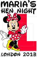 HEN NIGHT PARTY T SHIRT IRON ON TRANSFERS BRIDE TO BE MINNIE MOUSE DISNEY A5