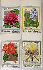 GABON GABUN 1984 899-02 556-59 local Flowers Blumen Flora Seerose Hibiskus MNH