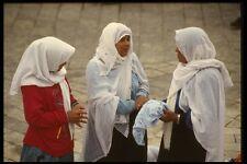 122045 Moslem Girls At Damascus Gate Market A4 Photo Print