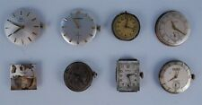 8 Antique Men's Wrist Watch Movements incl Gruen Longines Elida Tissot Jurgensen