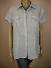 SPORTSCRAFT Pure Linen Short Sleeve Shirt sz 14 - BUY Any 5 Items = Free Post