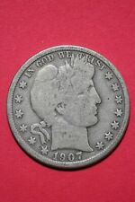 1907 O Barber Liberty Half Dollar Exact Coin Pictured Flat Rate Shipping OCE 023
