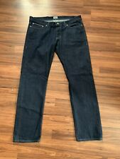 Naked & Famous Mens 38x33 Weird Guy Indigo Selvedge Denim Jeans Pants Button Fly