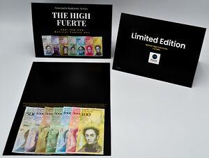2017 Venezuela Bolivares Limited Edition High Fuerte Set UNC 7 Pcs 500-100k