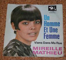 Single 7 Mireille Mathieu Un Homme Et Une Femme / Viens Dans Ma Rue Barclay