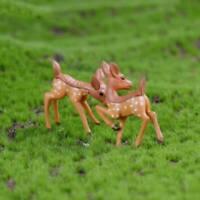 Micro Landscape Simulation Fawn Animal Model Decor GardenResin Crafts QK