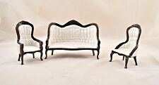 Victorian Living Room Parlor Set mahogany dollhouse   1/12 scale CLA91714  3pcs