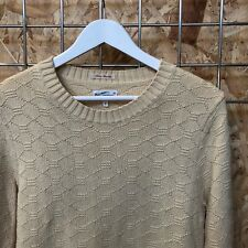 £120 Gant Rugger crewneck sweater/jumper/knitwear S SMALL Mens cream/white