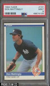 1984 Fleer #131 Don Mattingly New York Yankees RC Rookie PSA 9 MINT