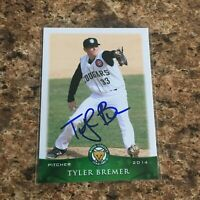 Tyler Bremer Signed 2014 Kane County Cougars Team Set Rc Auto Chicago Cubs