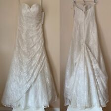 Allover Lace A-line Strapless Wedding Dress Style Wg3805 Ivory 4