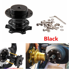 6 Hole Car Steering Wheel Quick Release HUB Racing Adapter Snap Off Boss Kit