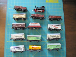 13 Vintage Fleischmann HO Freight Cars most made in US Zone + Engine