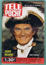 ▬►TELE POCHE 361_1973 JEAN MARAIS_ROMAN PHOTOS STONE-CHARDEN_SYLVIE VARTAN