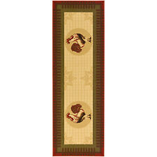 Rooster Runner Rug Non Slip Mat Throw Area Accent Farm Floor Hall Kitchen Cock