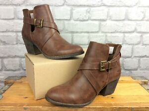 ROCKET DOG LADIES SASHA ARCHIVE BROWN ANKLE BOOTS RRP £55 T