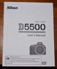 NIKON D5500 DIGITAL CAMERA OWNERS INSTRUCTION MANUAL -NIKON