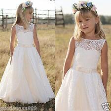 Flower Girl Dress Princess Prom Party Wedding Bridesmaid Birthday Pageant Dress