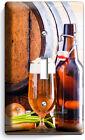 RUSTIC BEER BARREL BOTTLE GLASS LIGHT SWITCH OUTLET WALL PLATE KITCHEN ART DECOR