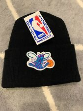NWT Vtg Charlotte Hornets Winter Knit Hat Beanie 90s MADE IN USA NEW WITH TAGS