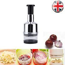 Kitchen Stainless Vegetable Garlic Onion Slicer Pressing Chopper Cutter Food Hot
