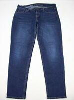 Old Navy Womens Jeans Boyfriend Skinny Size 12 Short Dark Blue Denim 28.5 Inseam