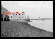 More details for old vintage glass negative slide portsmouth harbour and sailing ships boats