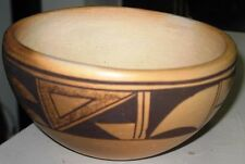 VINTAGE HOPI Pottery Bowl 1940's - 50's HAND MADE, PAINTED POLYCHROME DESIGN
