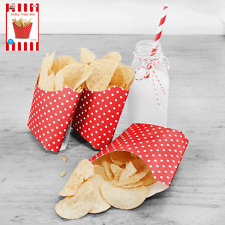 6 x Red and White Polka Dot...Fries...Chips...Boxes...Rock n Roll
