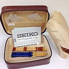 SEIKO Interchangeable Strap Bracelet Watch Box Jewelry Storage Case 16mm bands