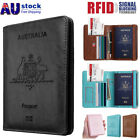 Slim Leather Travel Passport Wallet Holder RFID Blocking ID Card Case Cover
