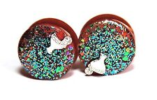 22 mm Handmade unisex resin Ear Plugs, Free USA shipping!(D-21)