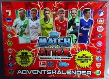 Match Attax Adventskalender 2013/2014 mit 50 Sammelkarten, Topps OVP