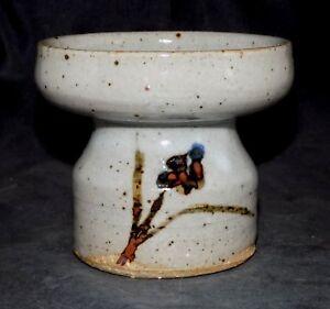 Mint Marked New Taeko Tanaka Mingei Studio Art Pottery Candle Holder, Vase