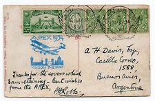 Apex Air post Exhibition-Irish card to Buenos Aires Argintina with label & pmk's