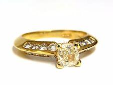 GIA Certified 2.51ct. Fancy Yellow Cushion cut diamond ring 18kt +