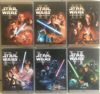 STAR WARS ... EPISODES 1 à 6 ... lot de 6 dvd
