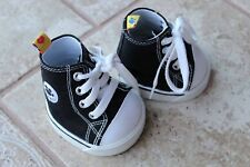 BAB Build a Bear Shoes white black Chuck Taylor Converse high top gym shoes