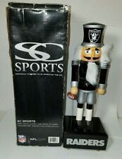 "12"" NFL Oakland Raiders Windup Musical Nutcracker Christmas Story"