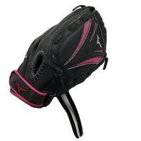 "Mizuno Jenny Finch Right 11"" Blk/Pink Baseball Softball GlovePro GPP1105F1 RHT"