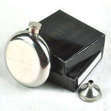 Round Wine Flask 5OZ Portable Flagon Pocket Bottle Glossy Specular Flask Sale