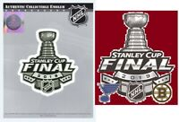 2019 STANLEY CUP FINAL JERSEY PATCH BRUINS BLUES STICKER NHL OFFICIALLY LICENSED