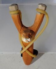 Wood Animal BEAVER Sling Shot with an EXTRA RUBBER BAND