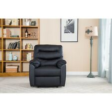 Wadermere Black Faux Leather Rise Recline Electric Recliner Arm Chair RRP £899