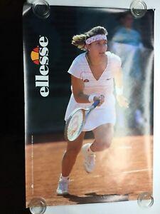 "Vintage Helen Kelesi Ellesse Woman's Tennis Sneaker Poster 1980s 36"" X 24"""