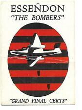 1968B SCANLENS EMBLEM/LOGO CARD  * ESSENDON BOMBERS *  VERY GOOD - RARE