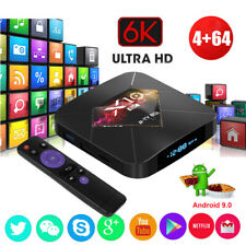 X10 Plus Android 9.0 4+64G Quad Core 6K Smart TV Box WIFI Media Player HDMI 2.0