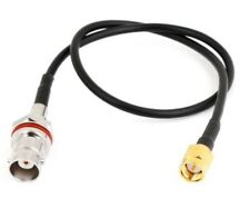 30cm SMA Male to BNC Female pigtail cable RG174      F4921K