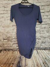 Athleta Seeker Tee Women's Dress Blue Size Medium Wrap Style t77